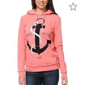 GLMR Kills Drop & Anchor Coral Pullover Hoodie